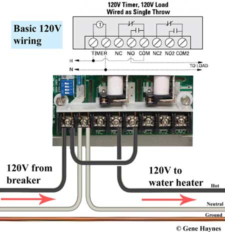 How to wire GE 15136 timerWaterheatertimer.org