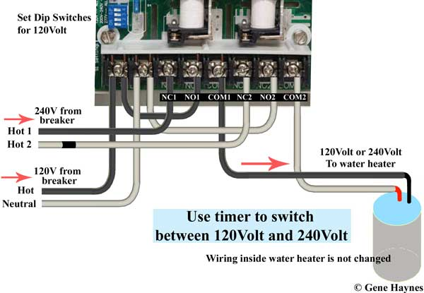 how to wire water heater for 120 volts wire ge timer for 120 240 volts