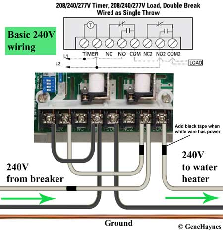 How to wire GE 15087 timer Ge Power Meter Wiring Diagram V on