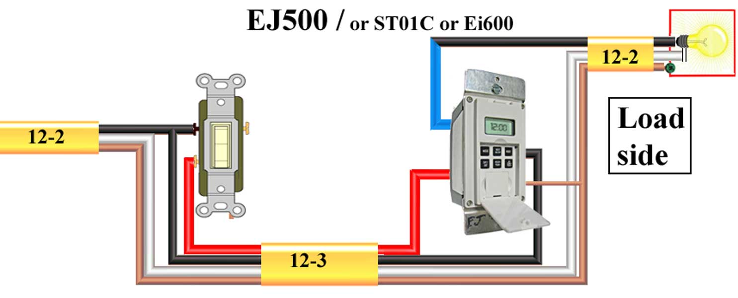 How To Wire Ej500 Timer Wiring Diagram For Gfci With Switch Furthermore Plug As Larger Image