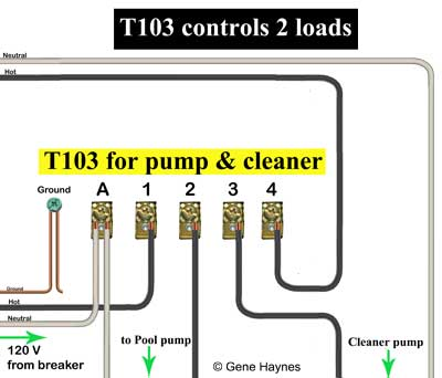 T104 controls two loads