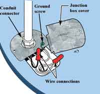 Electric water heater wiring