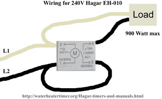 Wiring for 240V Hagar EH 010 110 hagar timers and manuals hager eh011 wiring diagram at edmiracle.co