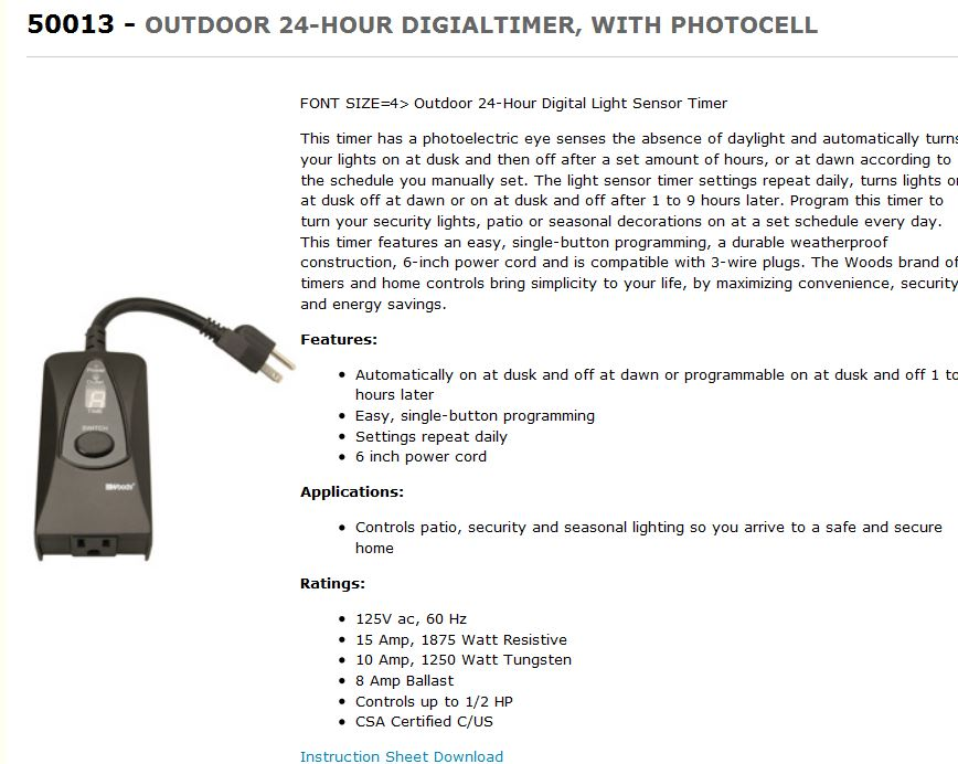 Outdoor timers possible similar manual troubleshoot photo eye timer pdf aloadofball Choice Image