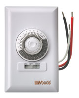 woods timers and manuals 59017 24 hour dial timer single pole 15 minute increments on off override on front 1000 watt 1 4 hp cfl any type bulb neutral wire required