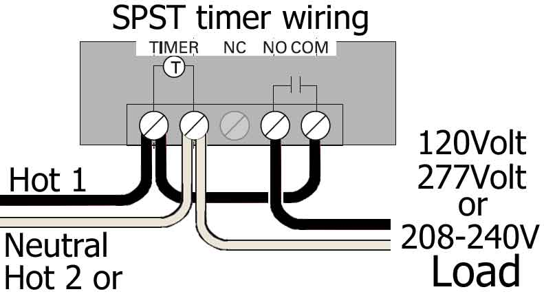 Woods SPST timer wiring full compare box timers dpst wiring diagram at crackthecode.co