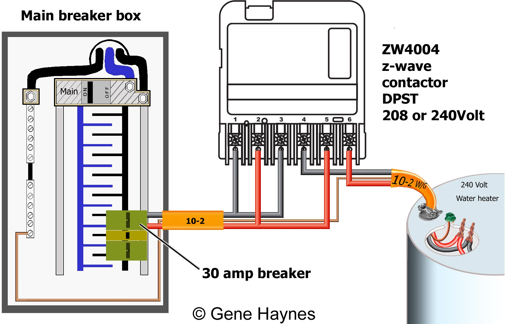 ZW4004 wiring DPST 208 240 how to wire ca3750 z wave contactor zwave basics 208 Single Phase Wiring Diagram at gsmportal.co