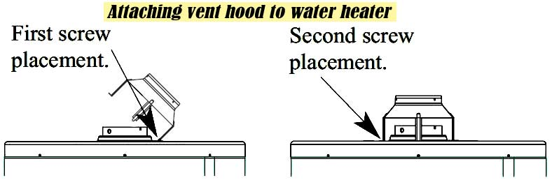 Attach vent hood to water heater