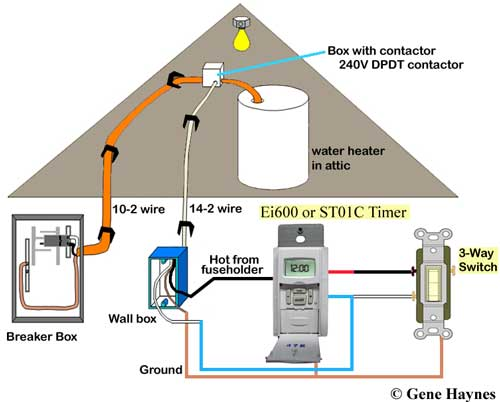 Water heater 3-way timer