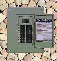 basic 240 120 volt water heater circuits breaker box