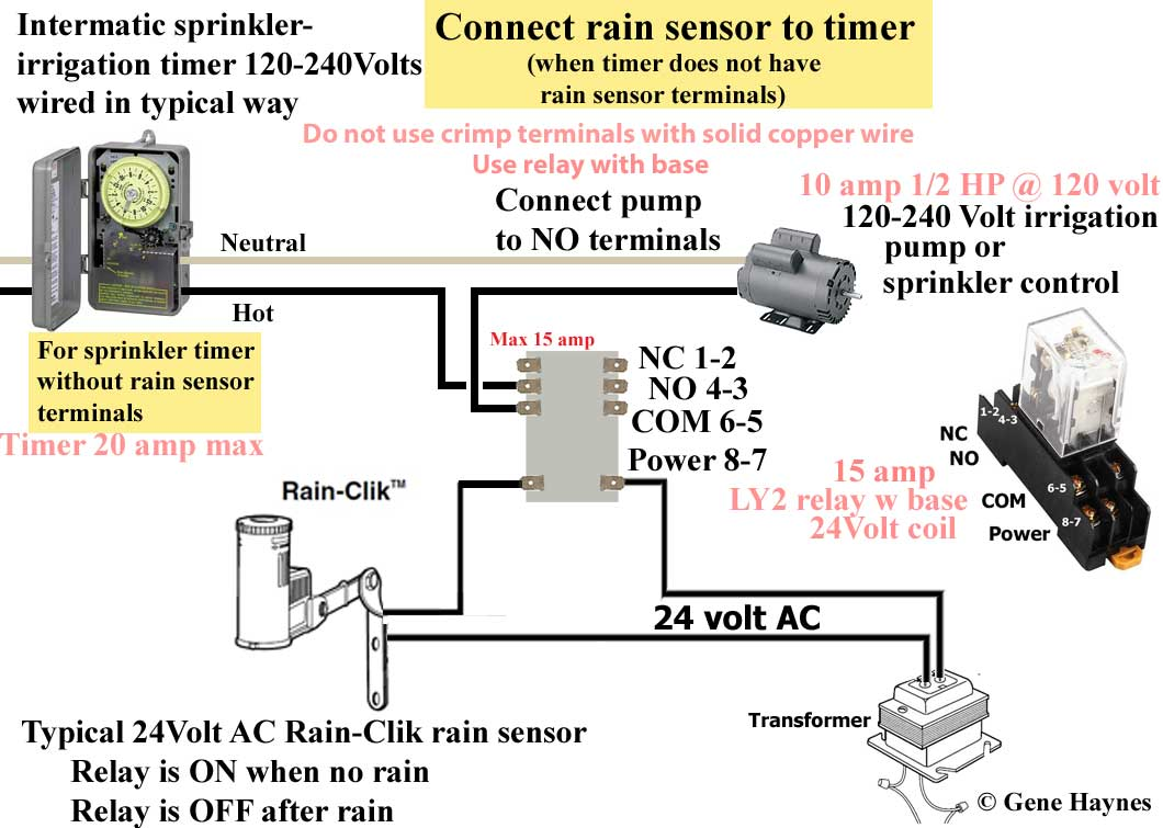 connect relay to timer 2 how to wire intermatic sprinkler and irrigation timers and manuals sprinkler pump wiring diagram at soozxer.org