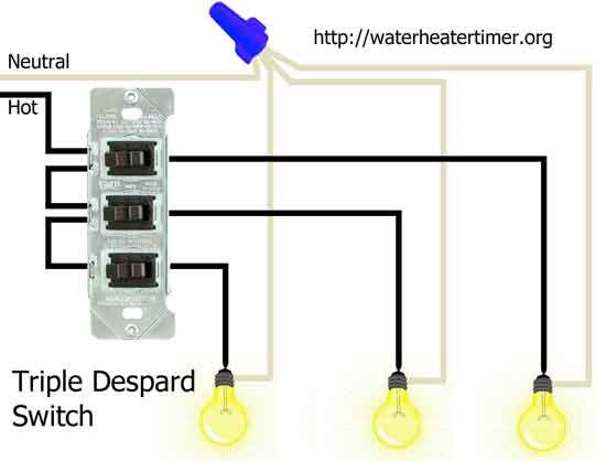 how to wire switches rh waterheatertimer org Double Light Switch Wiring Diagram Double Light Switch Wiring Diagram