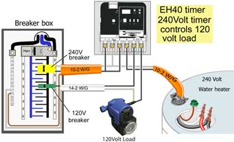 eh40 controls 120Volt load 300 how to wire wh40 water heater timer 240 volt hot water heater wiring diagram at soozxer.org
