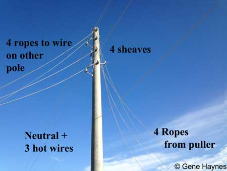 Pull electric wire