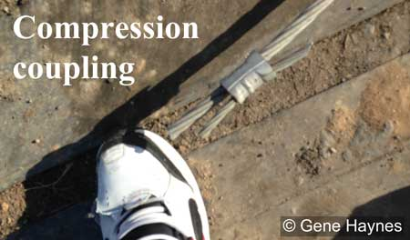 Neutral compression connection to ground wire