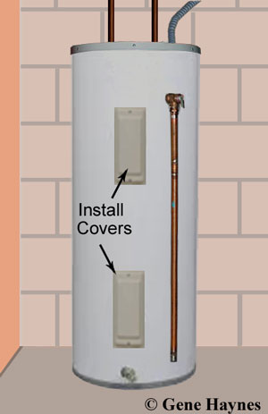 electric water heater in basement