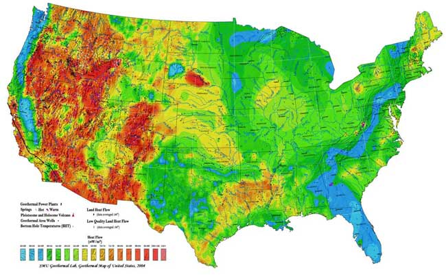 Average Temperature Of Shallow Ground Water - Average temp map us