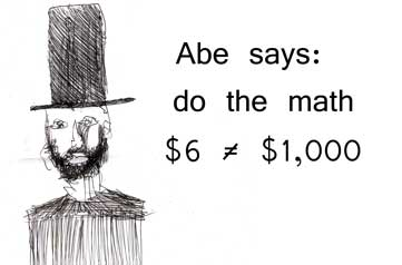 Abe says: do the math