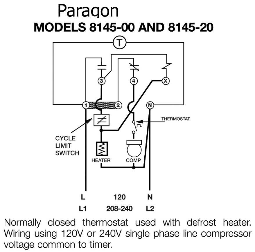 paragon timers and manuals Home AC Thermostat Wiring Diagram image of 8145 wiring