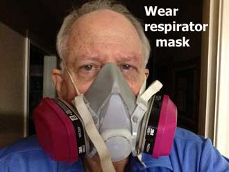 wear respirator mask