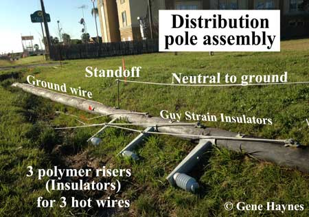 Distribution pole