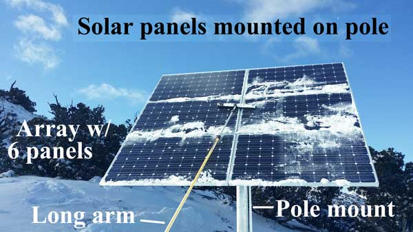 solar mounted on pole