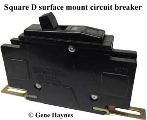 SquareD surface mount circuit breaker