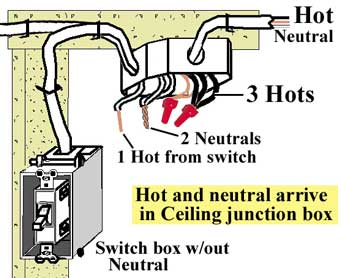 how to wire switches rh waterheatertimer org Junction Box Diagram Cover Junction Box Plate