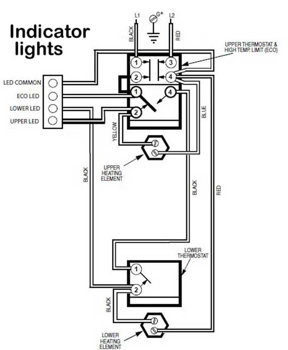 status light rheem 712 how to wire water heater pilot light Rheem Thermostat Wiring at gsmportal.co