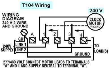 how to wire intermatic t104 and t103 and t101 timers rh waterheatertimer org  intermatic timer t104 wiring diagram