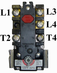 Top thermostat numbering