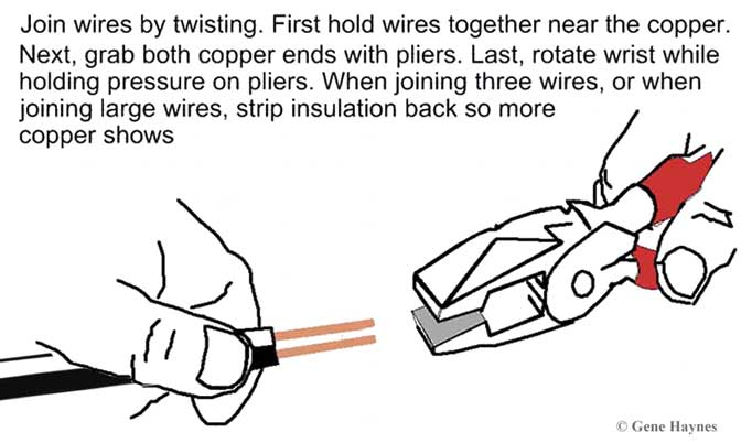 how to twist electric wires