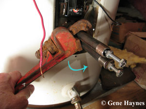 remove old water heater element