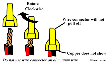 How to select wire connector does connector cover past the copper wire greentooth