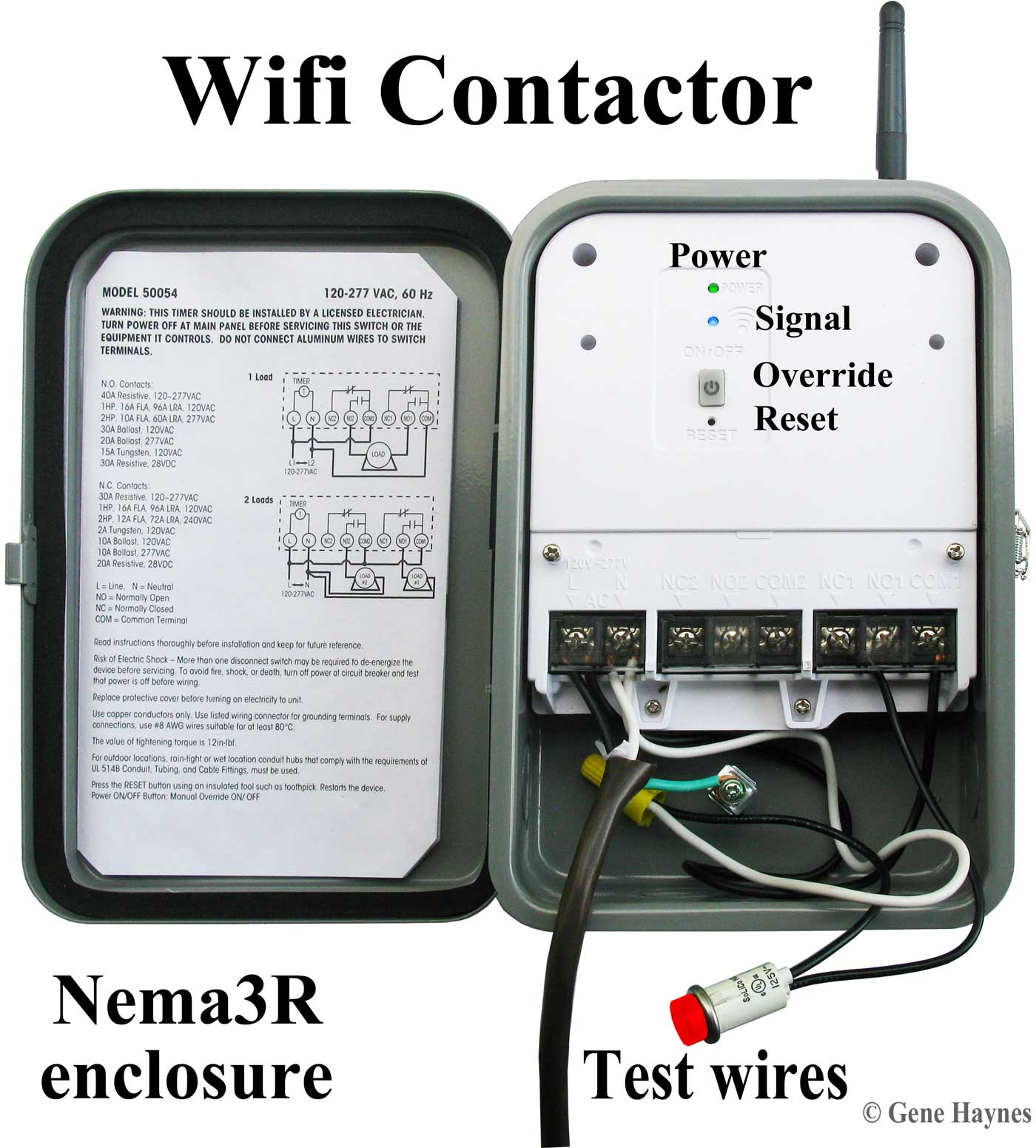 How to wire Woods 50054 WiOn contactor, Wifi relay