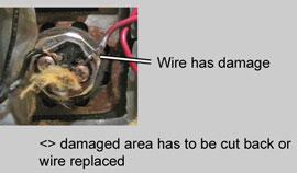 damaged bottom element