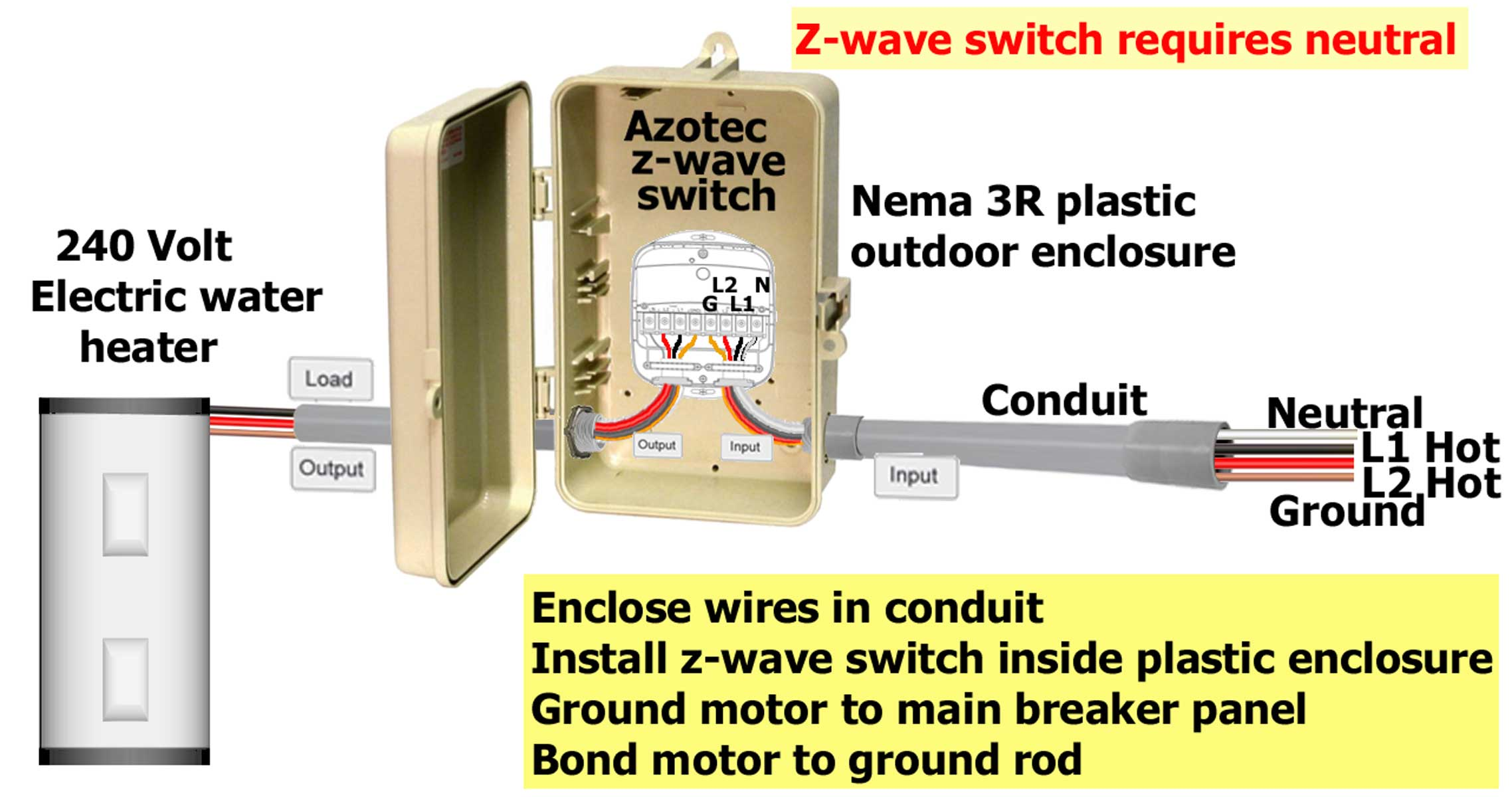 how to wire aeon labs aeotec z wave energy smart switch rh waterheatertimer  org 3 Phase Electrical Wiring Diagram 480 Volt 3 Phase Wiring