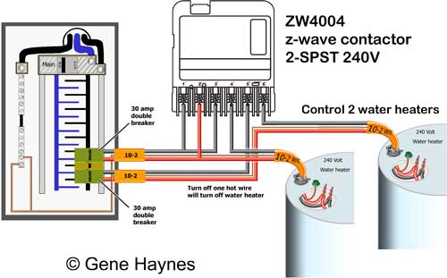 how to wire ca z wave contactor zwave basics zw4004 control water heater